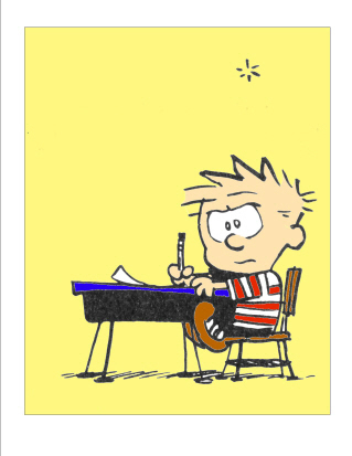 Calvin_in_school